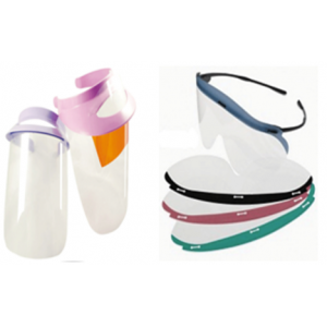3-D Dental Infection Control - Face Shields & Glasses
