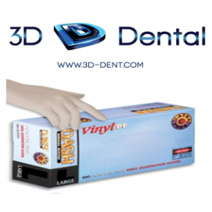 3-D Dental Infection Control - Gloves-Vinyl