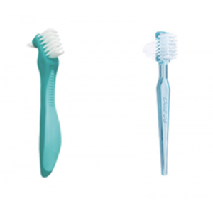 3-D Dental Preventives - Denture Toothbrushes