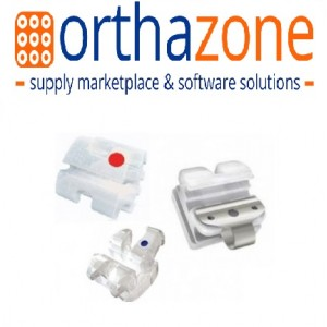 OrthAzone Brackets - Ceramic Bracket (Tooth Color, Sapphire, Self-Ligating, Metal Slot)