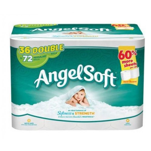 Angel Soft Toilet Paper 36 Double Rolls Bath Tissue 10243