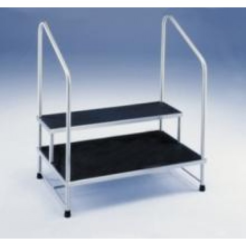 Conditional Double Step Stool With Two Hand Rails 526